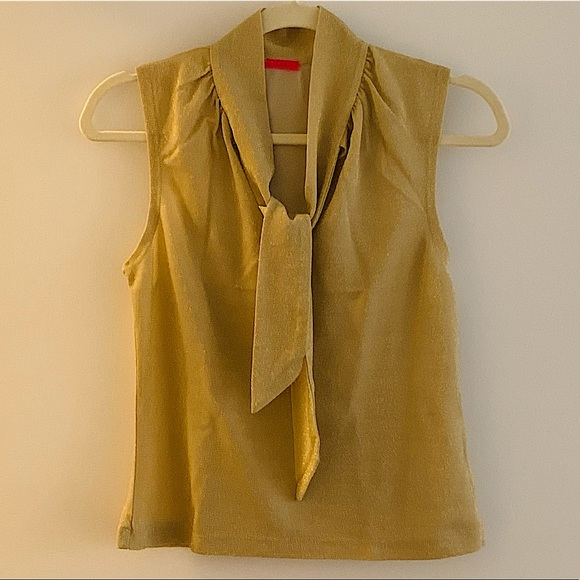 Urban Outfitters sleeveless ribbon blouse